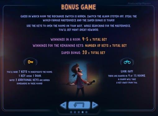 Правила бонусной игры в Art of the Heist