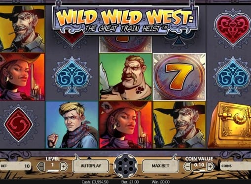 Комбинация символов в игре Wild Wild West